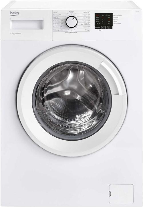 Beko Up WCA272 - Machine à laver - indépendant - largeur : 60 cm - profondeur : 49 cm - hauteur : 84 cm - chargement frontal - 50 litres - 7 kg - 1200 tours/min - blanc