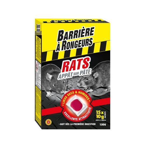 barriere a rongeurs appât sur pâte pour rats - spécial lieux secs et humides - 150 g