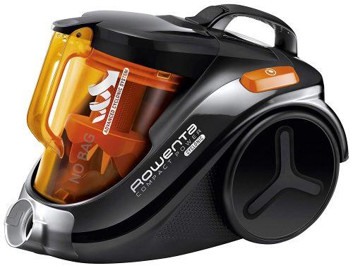 Rowenta RO3753EA Aspirateur Sans Sac Compact Power Cyclonic Brosse Parquet Efficacité Energétique A 750W Noir et Orange [Classe énergétique A]