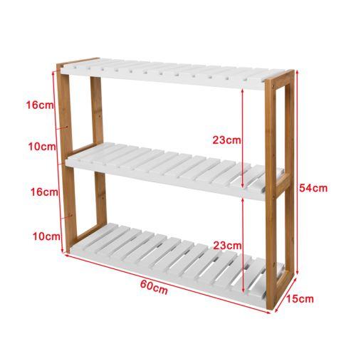 SoBuy® FRG28-WN Meuble de Rangement pour salle de bain toilettes, Cuisine