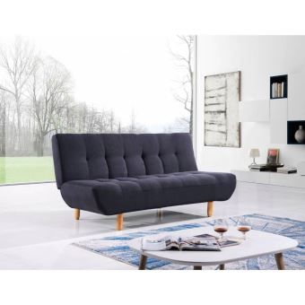 canap clic clac design scandinave viking tissu noir achat prix fnac. Black Bedroom Furniture Sets. Home Design Ideas