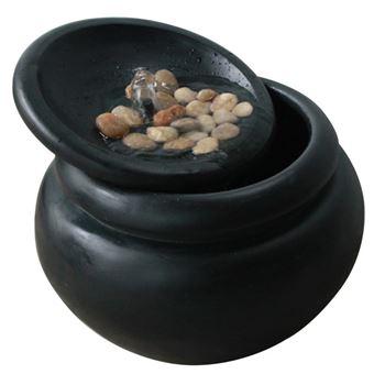 Fontaine Exterieur Zen peaktop - fontaine zen en plein air - bronze vieilli - décoration d