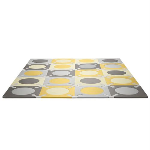 Tapis Dalles mousse Gris-Or