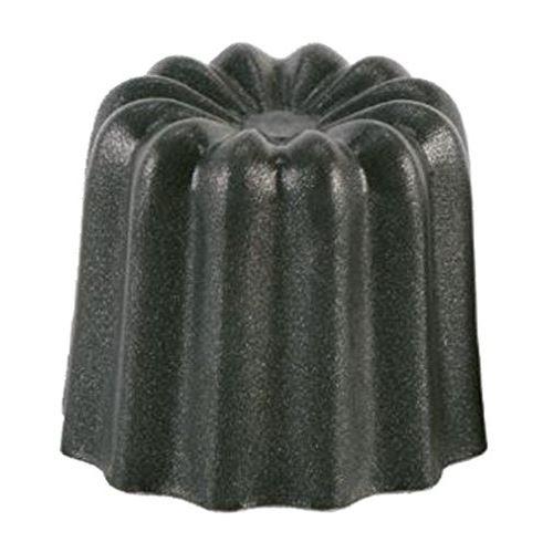 Patisse 43018 lot de 6 cannelés aluminium noir 35 mm