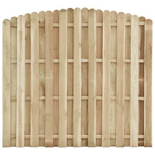 vidaXL Panneau de clôture Bois de pin imprégné 180x(155-170) cm
