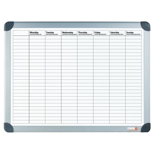 DESQ Planificateur de semaine magnétique 60x90 cm Blanc