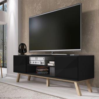 bas prix 68d7a 87882 Meuble TV Vero Bois (150 cm, noir mat)