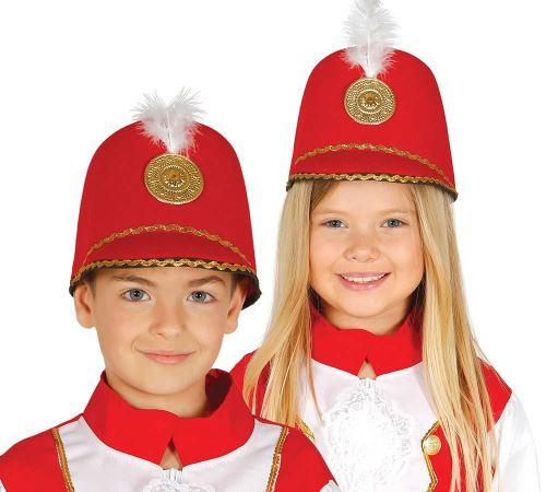Chapeau Majorette rouge pour enfant