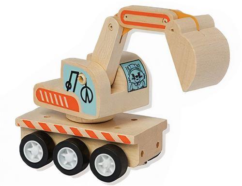 Manhattan Toy excavateur Varoom junior 10 cm bois naturel