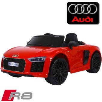 92f2d4f5670c7f Voiture électrique enfant 12 volts nouvelle Audi R8 pack luxe rouge à  télécommande parentale siège simili cuir audio bluetooth - Véhicule  électrique pour ...