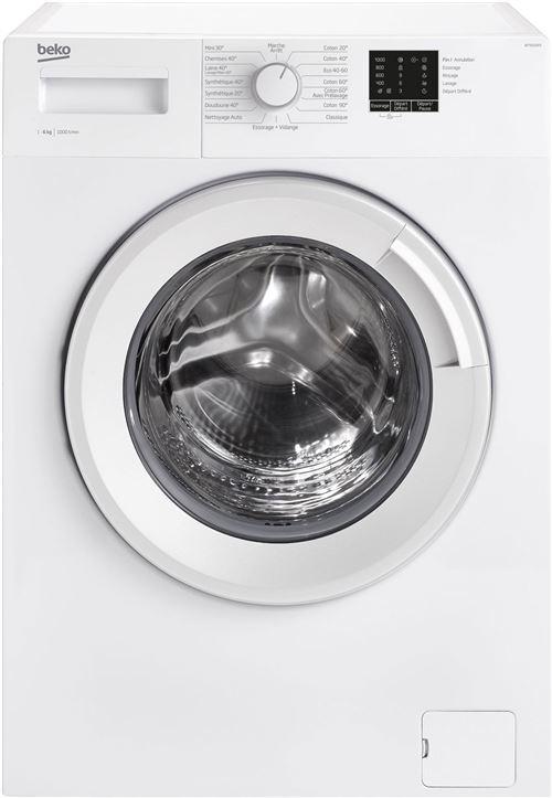 Beko Up WTS61003 - Machine à laver - indépendant - largeur : 60 cm - profondeur : 44 cm - hauteur : 84 cm - chargement frontal - 39 litres - 6 kg - 1000 tours/min - blanc