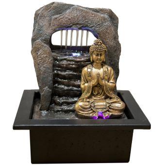 fontaine d 39 int rieur bouddha zen harukata marron. Black Bedroom Furniture Sets. Home Design Ideas