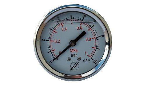Manomètre Axial glycérine D.63 de 0 à 10 bar Sferaco référence 1623006.