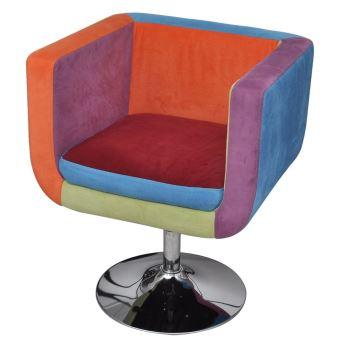 Vislone Fauteuil Confortable avec Design de Patchwork Cube ...