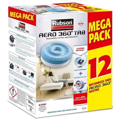 Rubson promo mega pack lot de 12 recharge aero 360 rub
