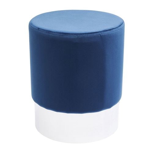 Tabouret Cherry bleu pétrole et chrome Kare Design
