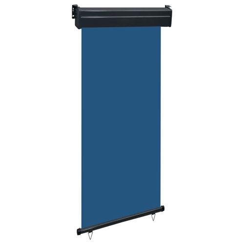 vidaXL Auvent latéral de balcon 100x250 cm Bleu
