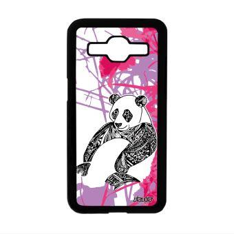 Coque Panda Samsung Core Prime Nature Housse Dessin Fleur