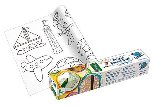 Un grand plaisir de coloriage│ livre de coloriage│ Rouleau de coloriage adhésif pour enfants à partir de 2 ans│ création originale│ bricoler│ window color