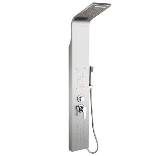 LED Colonne de Douche 140*20*7cm, en acier inoxydable- Zada