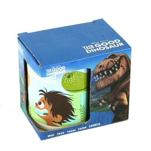 La bonne tasse de dinosaure dans un emballage cadeau