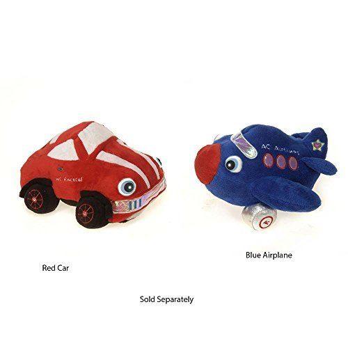 Fiesta Toys NightBuddies Red Wc Racecar with Light up Eyes Plush Stuffed Toy - 8