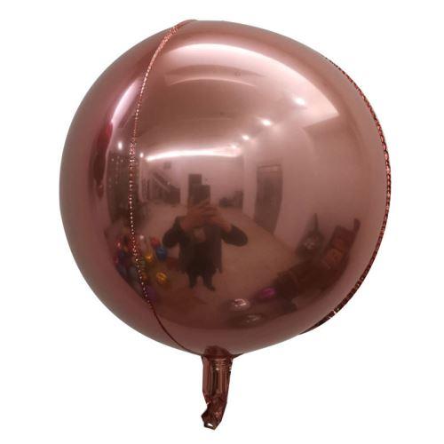 10 pcs Ballons en Aluminium 15 Pouces pour Noël Soirée Maison Jardin Fete Mariage - Or Rose