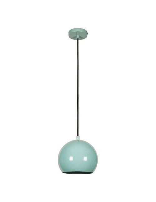HOMEMANIA Lampe à Suspension Colorful - Plafonnier - Murale - Turquoise Pastel en Métal, 20 x 20 x 109 cm, 1 x E27 max 100 W