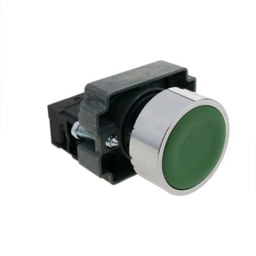 Bouton poussoir momentané 22mm 1NC 400V 10A normalement fermé vert