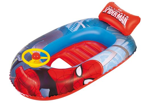 Bestway canot pneumatique Spider-Man 112 x 71 cm bleu/orange