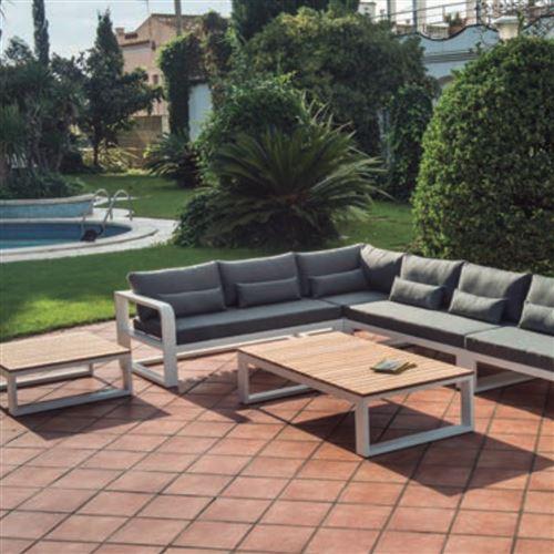 Canapé salon de jardin avec coussin fermo curve zendart ...