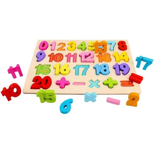 Puzzle Blocs de construction Conseil alphanumérique Illumination Scratch Board bébé Planche à dessin numérique - Multicolore