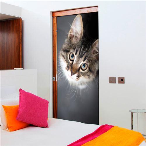 Papier-peints pour porte - Charming Kitten - 90x210 - -
