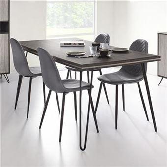 Table A Manger Moderne Couleur Bois Gris Santori L 180 X P 90 X H 77 5 Cm