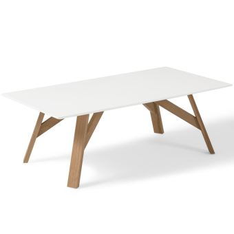 Comptoirxl Table Basse Design Scandinave Tycka Blanc Et