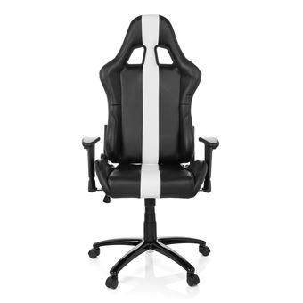 hjh Gaming bureau OFFICE simili Chaise Chaise Gaming de II noirblanc baquet IMOLA siège cuir CoeBdx