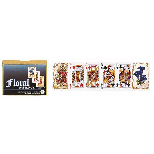 PIATNIK Coffret de 2 jeux de cartes FLORAL Multicolore