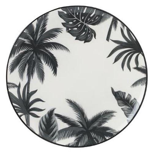 Lot de 6 Assiettes Plates Jangal 27cm Noir & Blanc