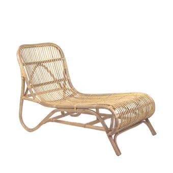 Chaise Longue En Bambou Kim Pomax
