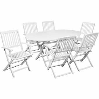 Casasmart - Table à manger avec six chaises d\'extérieur ...