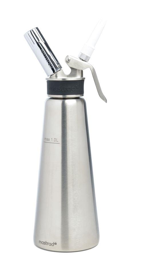 Mastrad - Siphon inox professionnel 1l