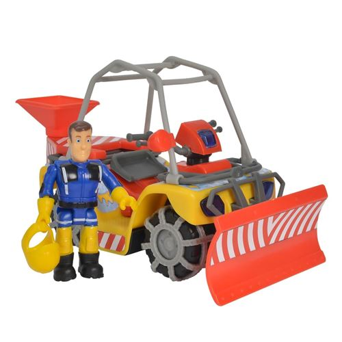 Simba Véhicule de neige jouet Winter Mercury Sam le pompier