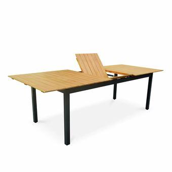 Table de jardin en bois aluminium extensible 200/250cm avec ...