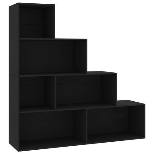 VidaXL Bibliothèque/Séparateur de pièce Noir 155x24x160 cm Aggloméré