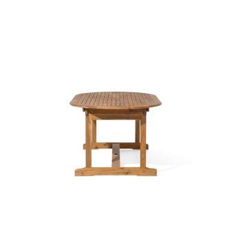 130€ sur Beliani - Table de jardin ovale extensible 160/220 x 100 cm ...