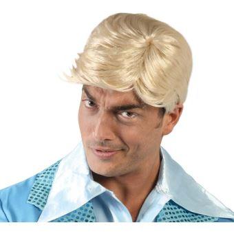 Perruque homme blonde en boîte