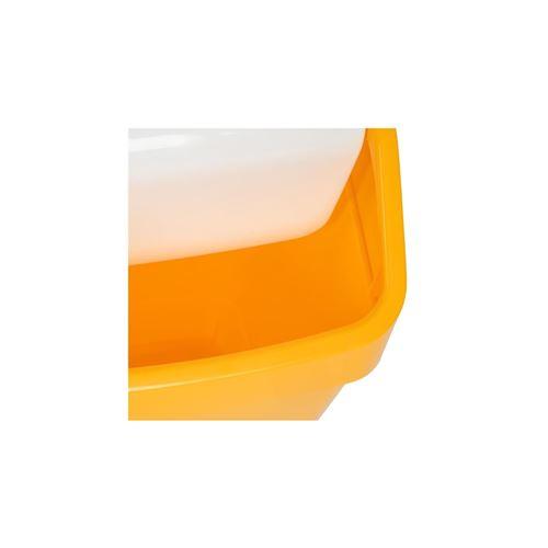 Poubelle jaune à couvercle battant syr