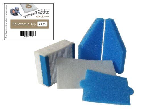 Kallefornia K769 - 5-partie HEPA filtre kit pour aspirateur Thomas AQUA+ Multi Clean Parquet X7 X8 X10