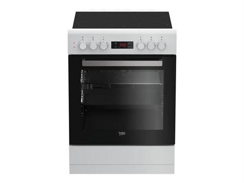 Beko FZE67300WCS - Cuisinière - pose libre - largeur : 60 cm - profondeur : 60 cm - hauteur : 85 cm - avec système auto-nettoyant - blanc