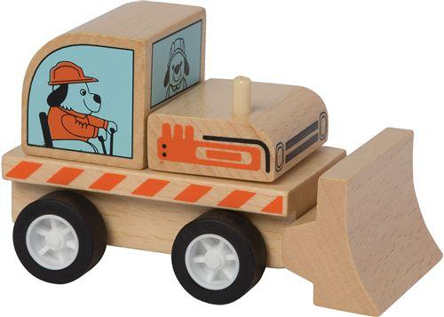 Manhattan Toy bulldozer Varoom bois junior 10 cm bois naturel
